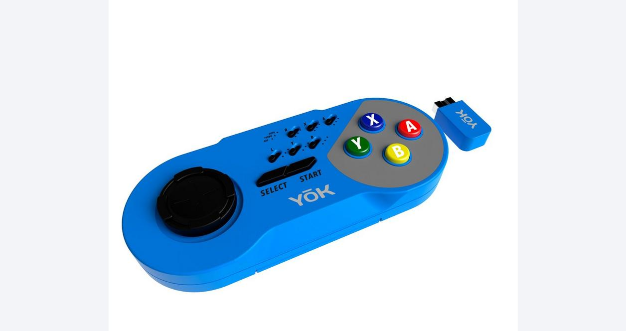 Blue TURBO Wireless Controller for Super NES