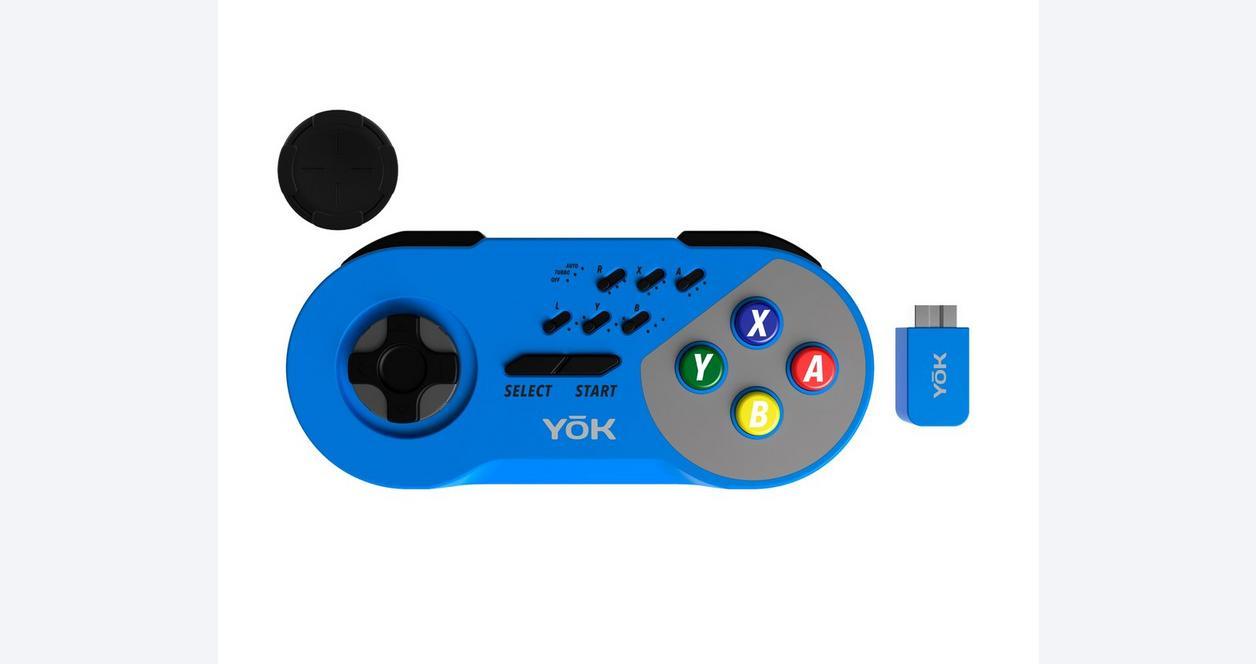 SNES YoK Wireless Controller - Blue