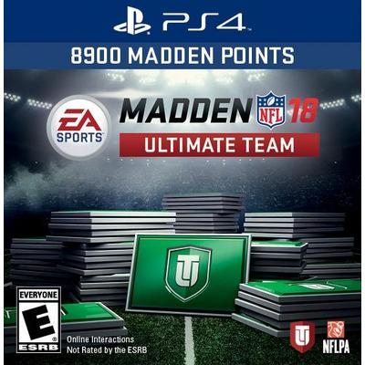 Madden NFL 18 Ultimate Team: 8900 Points