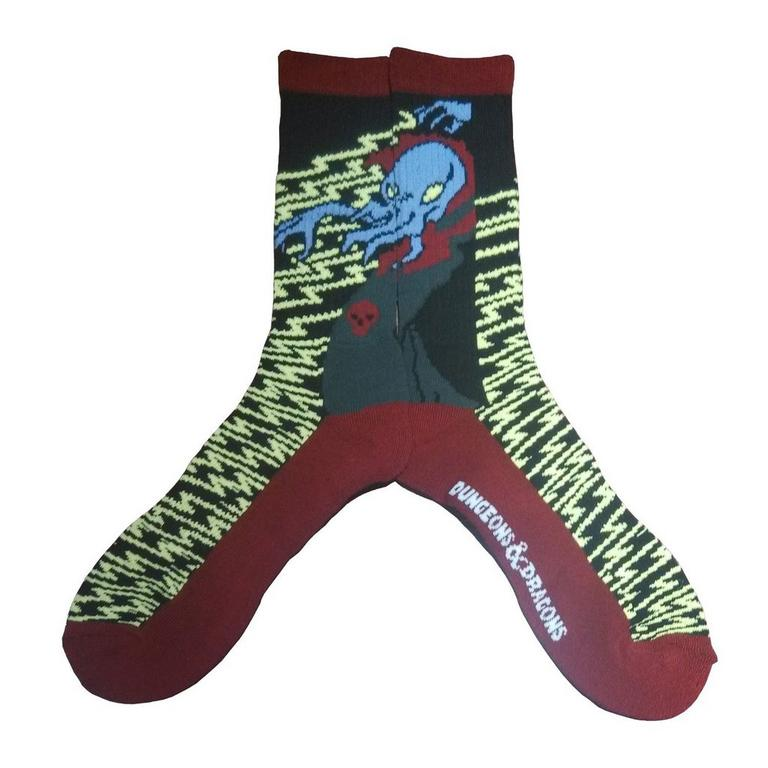 Dungeons and Dragons Mind Flayer Sorcerer Socks
