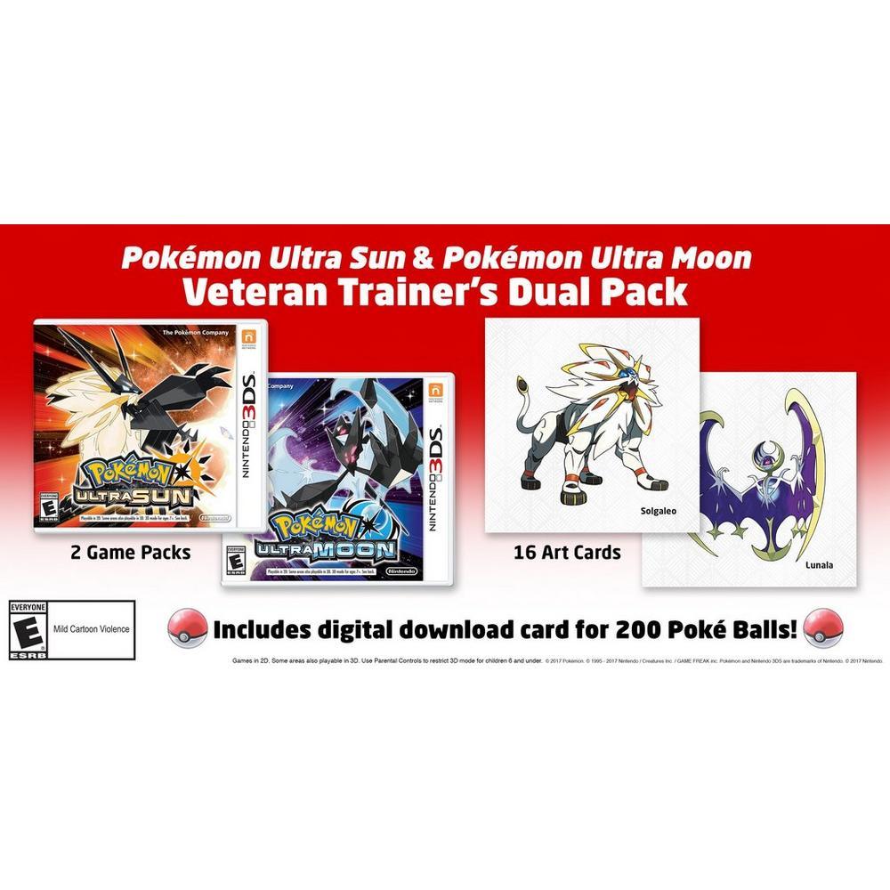 Pokemon Ultra Sun & Pokemon Ultra Moon Veteran Trainer's Dual Pack |  Nintendo 3DS | GameStop