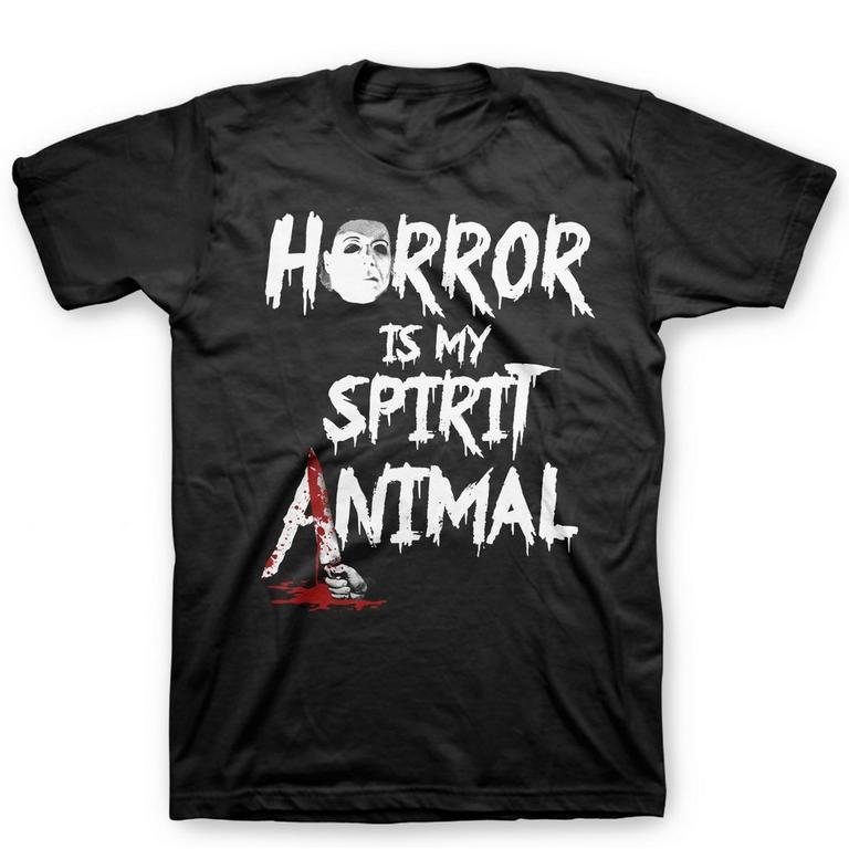 Horror is my Spirit Animal Black T-Shirt