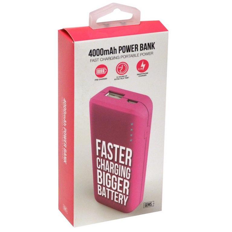 4000 MAH Power Bank - Pink