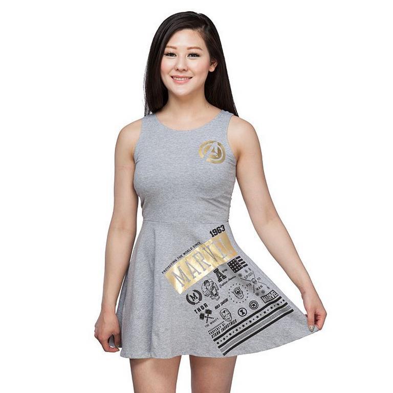 Avengers Mix Icons Mini Dress