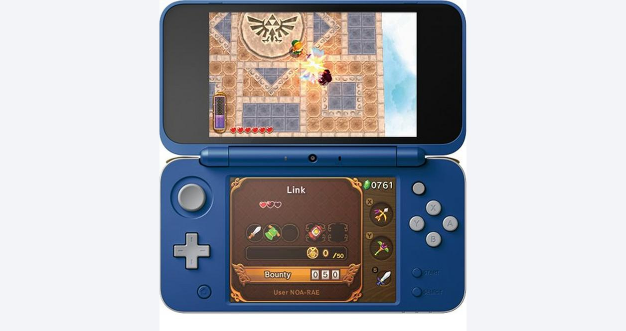 New Nintendo 2DS XL Hylian Shield Edition Only at GameStop