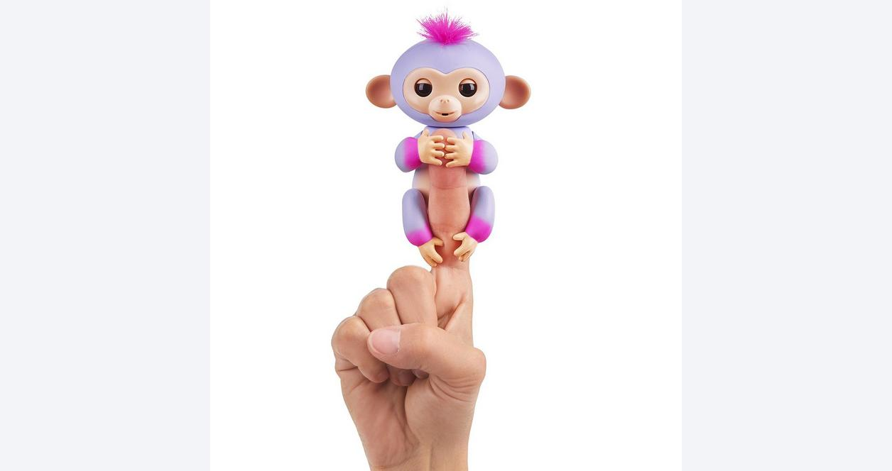 Fingerlings: Interactive Baby Monkey - Sydney (Purple with Pink Hair)