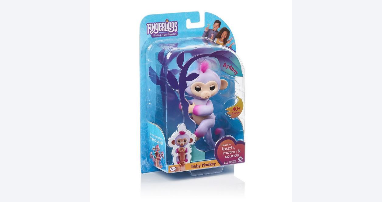 Fingerlings Sydney Purple Baby Monkey Interactive Figure