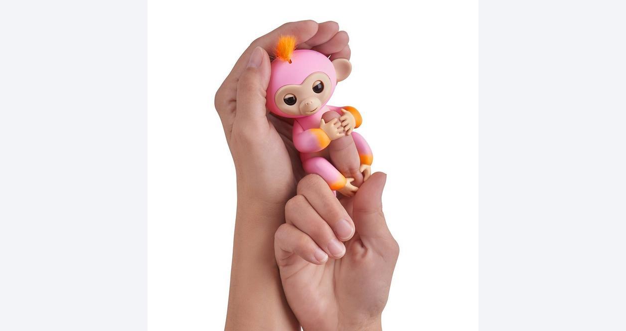 Fingerlings: Interactive Baby Monkey - Summer (Pink with Orange Hair)