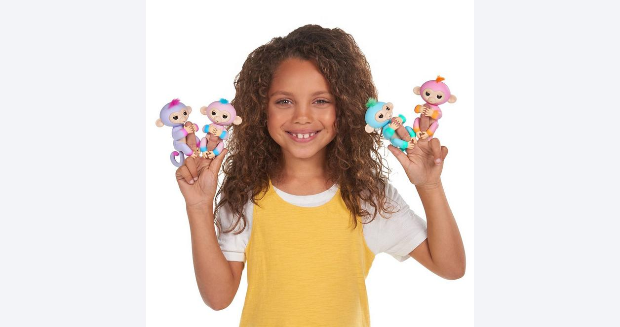Fingerlings: Interactive Baby Monkey - Candi (Pink with Blue Hair)
