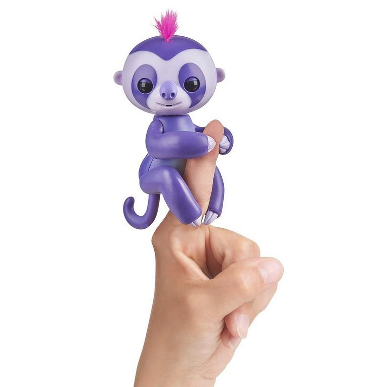 Fingerlings: Interactive Baby Sloth - Marge (Purple with Pink Hair)