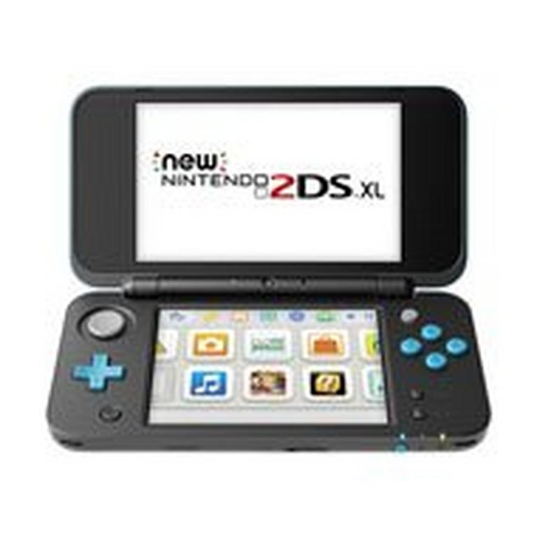 New Nintendo 2DS XL Black and Turquoise GameStop Refurbished