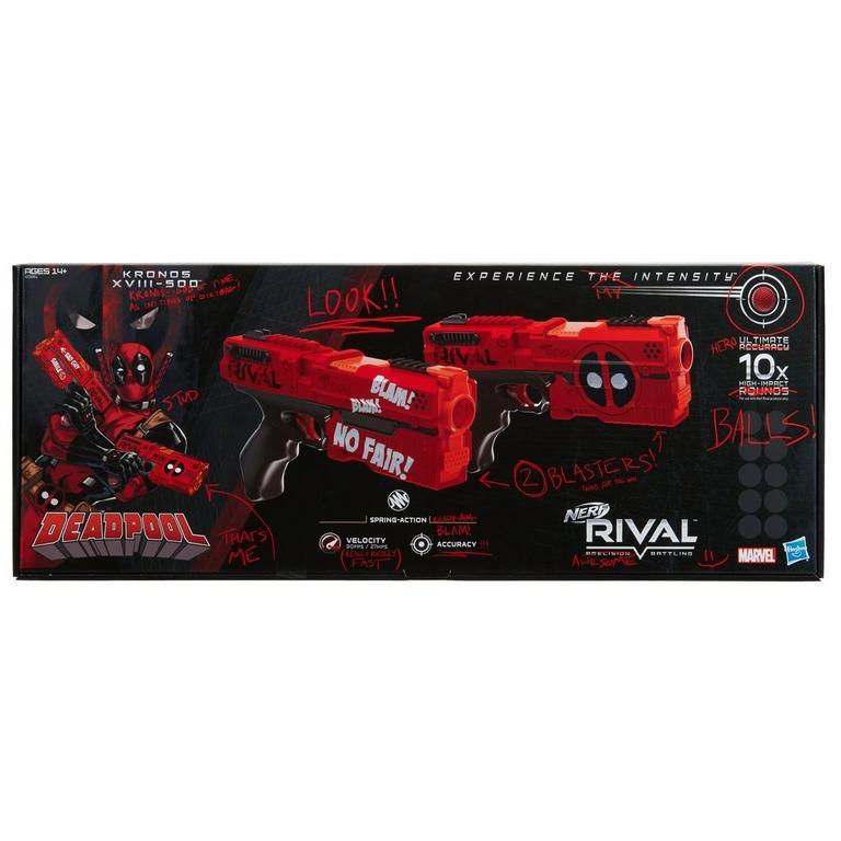 Nerf Rival Deadpool Kronos XVIII-500 Blaster 2 Pack