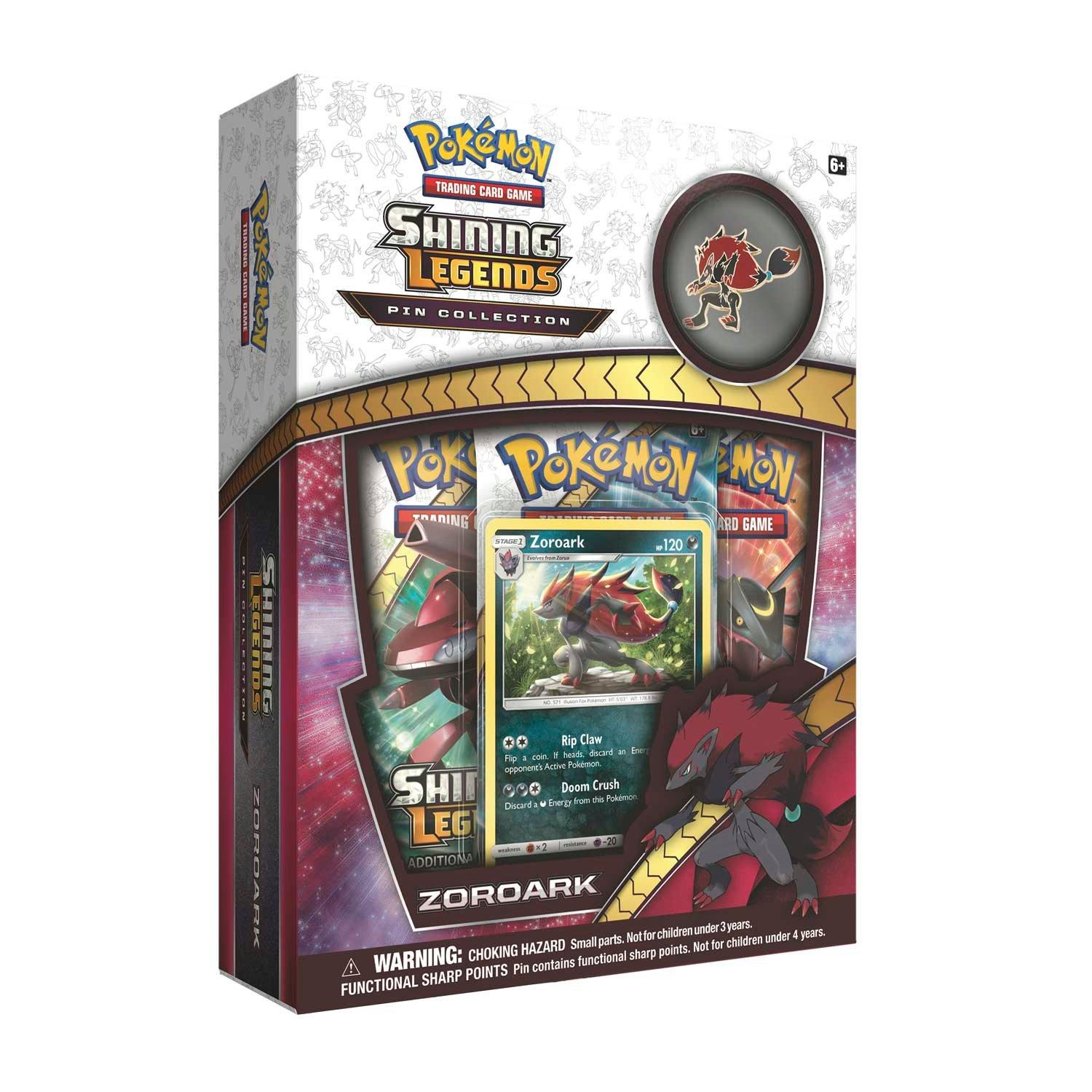 Pokemon Trading Card Game Zoroark Shining Legends Pin Collection Gamestop