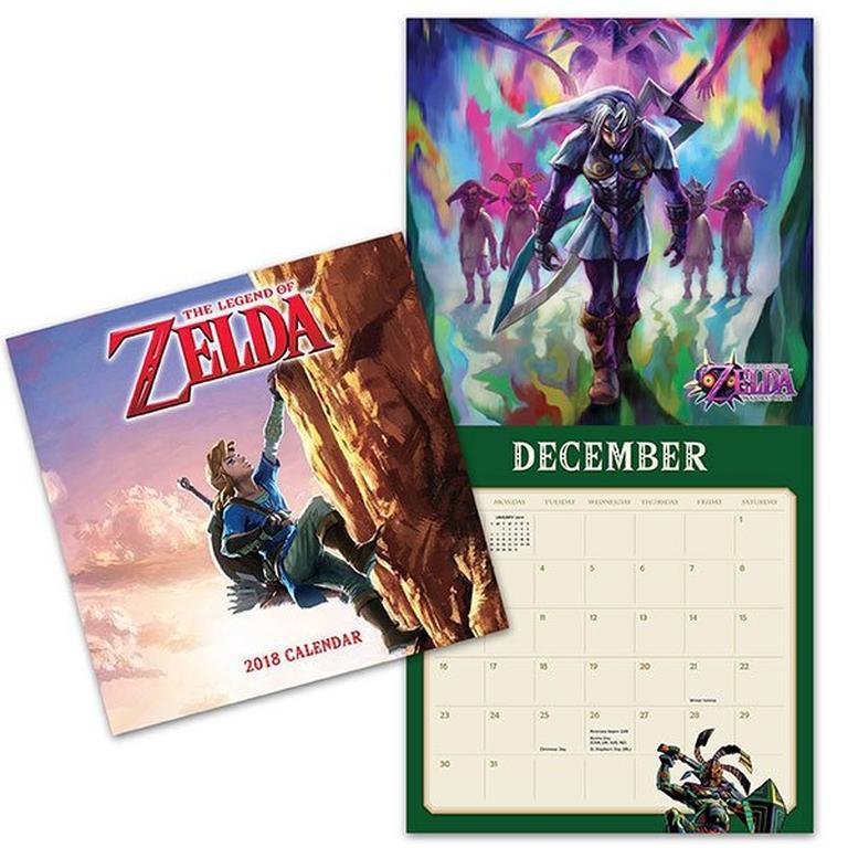 The Legend of Zelda 2018 Wall Calendar