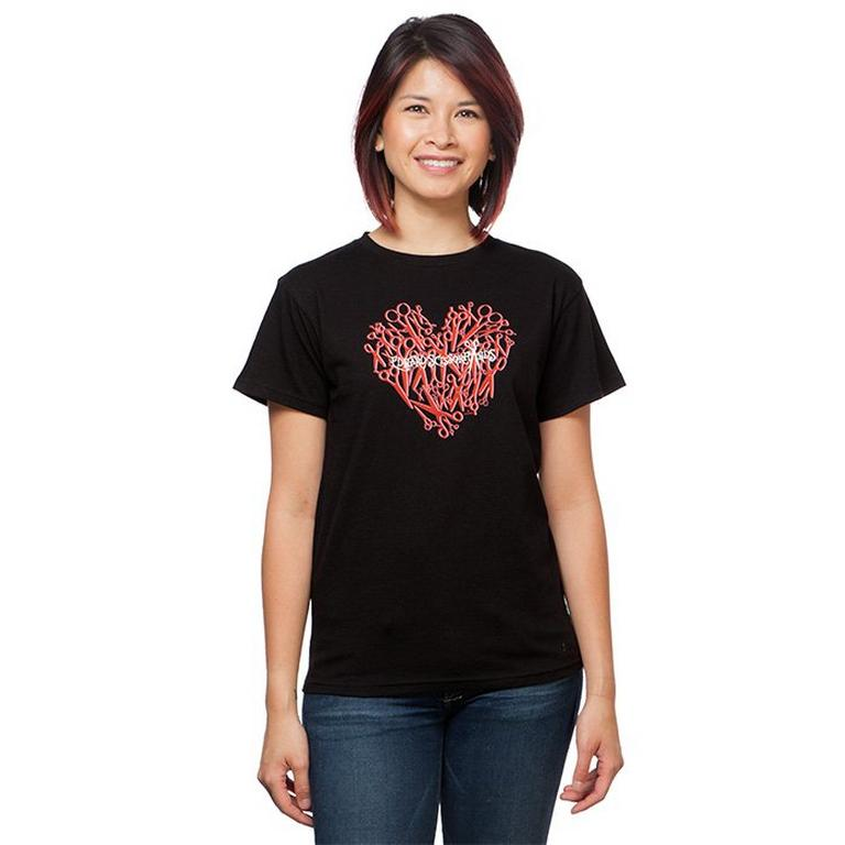 Edward Scissorhands Scissor Heart Ladies T-Shirt