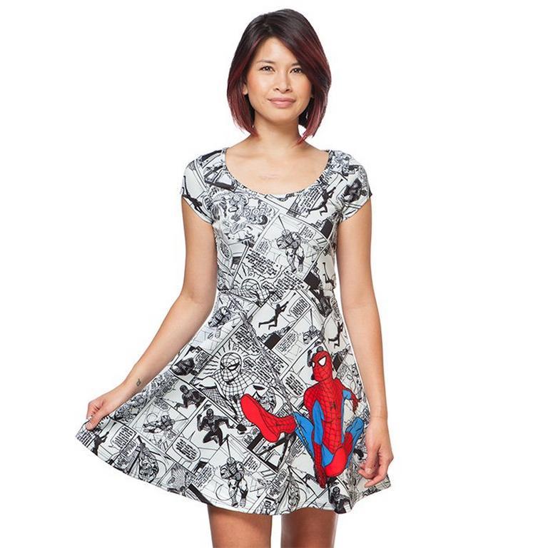 Marvel Spider-Man Comics Short Sleeve Dress