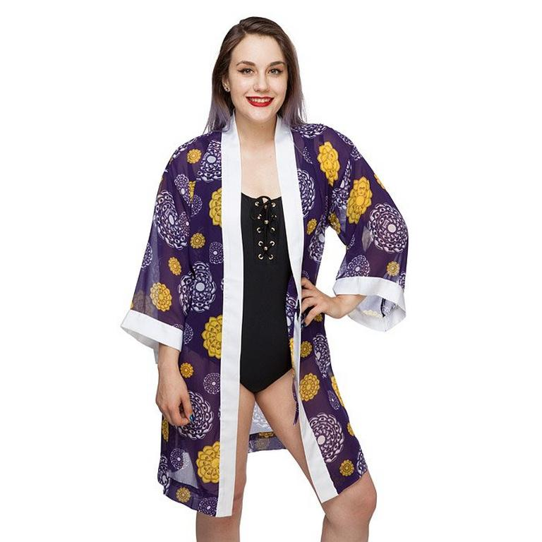 Star Wars Droid Floral Chiffon Cover-Up Robe