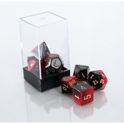 Gemini Black and Red Polyhedral 7-Die Set