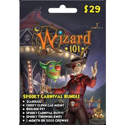 Wizard 101 Spooky Carnival Bundle Digital Card