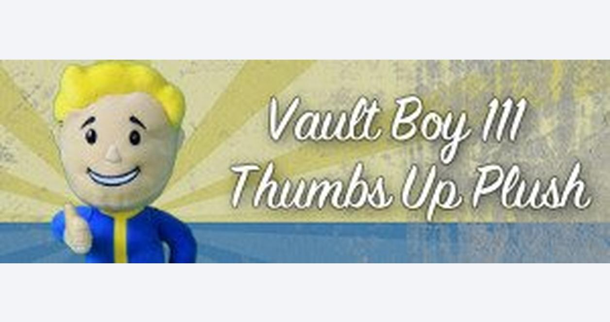 Fallout 4 Vault Boy Thumbs Up Plush Figure