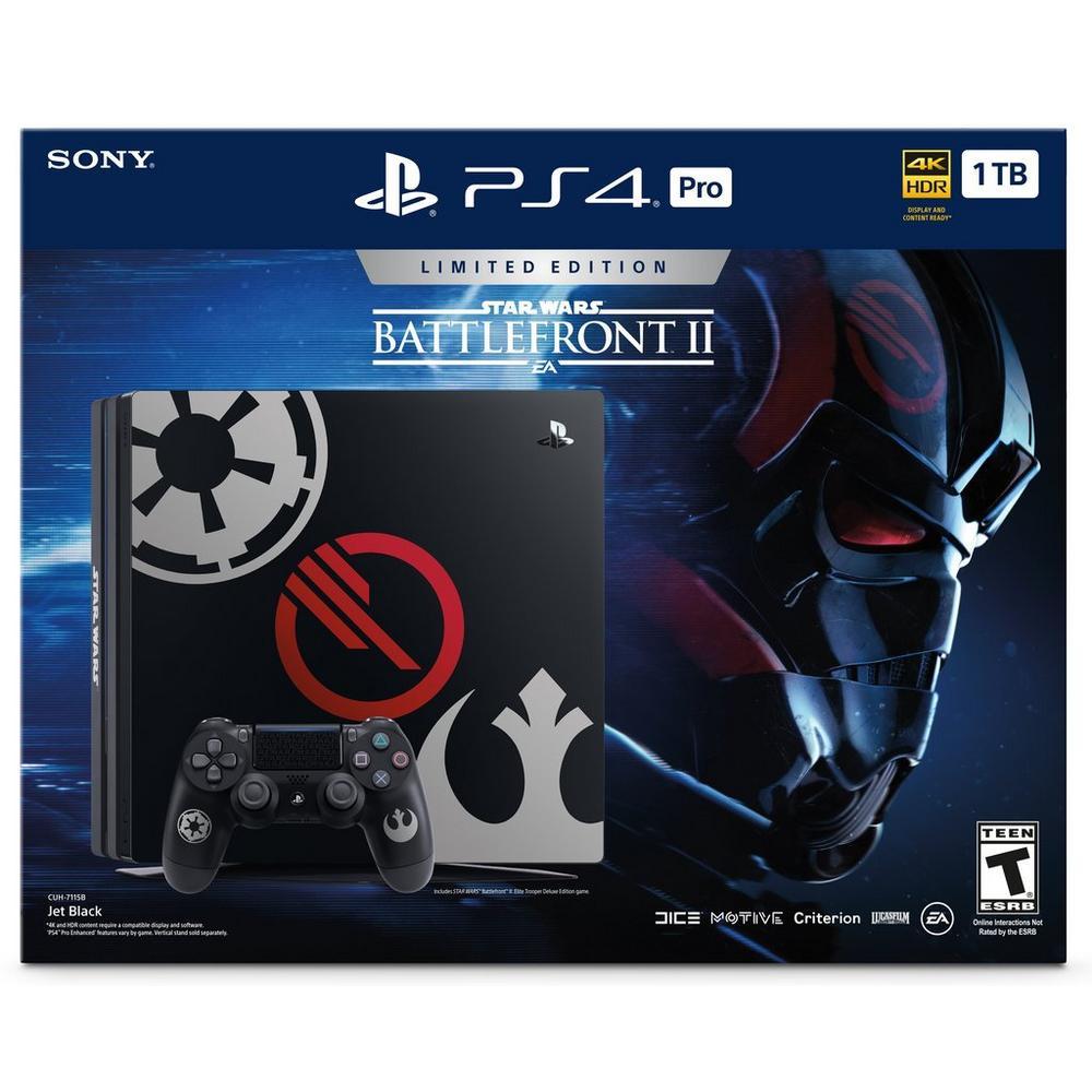 PlayStation 4 Pro 1TB STAR WARS Battlefront II Limited Edition Bundle    PlayStation 4   GameStop
