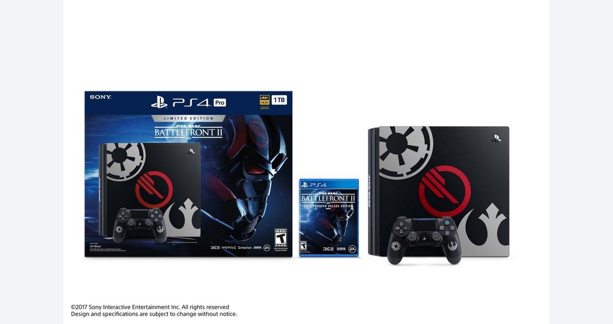 PlayStation 4 Pro 1TB STAR WARS Battlefront II Limited Edition Bundle |  PlayStation 4 | GameStop