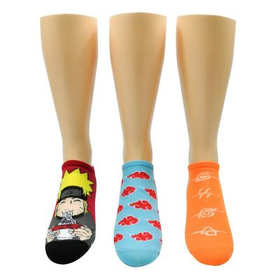 Naruto Noodle Lowcut Socks 3 Pack
