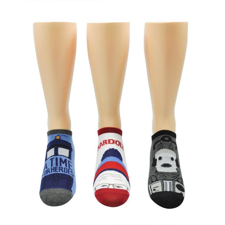 Doctor Who Lowcut Socks 3 Pack