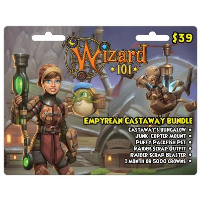 Wizard 101 Empyrean Castaway Bundle Digital Card