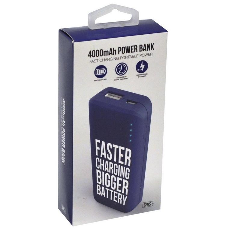 4000 MAH Power Bank - Blue