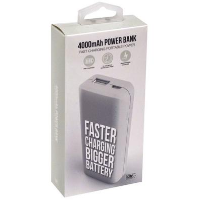 4000 MAH Power Bank - White