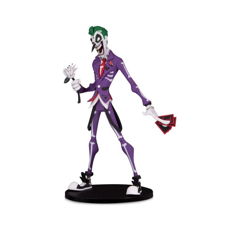 DC Artist Alley The Joker by Hainau Nooligan Saulque Day of the Dead Variant Statue