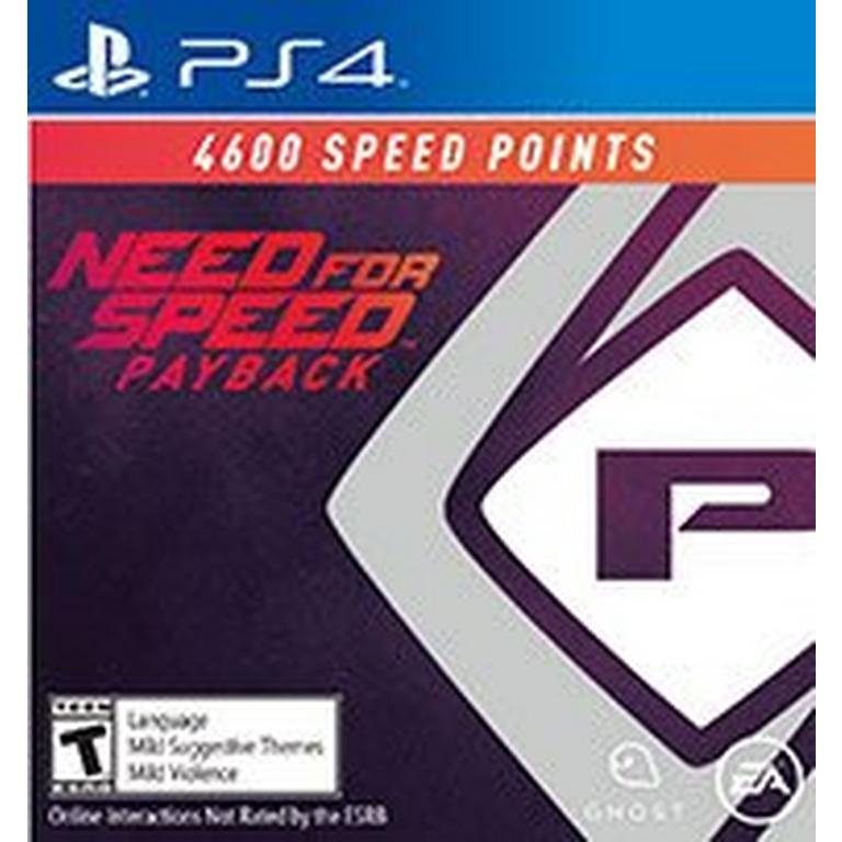 Need For Speed Payback - 4600 Points