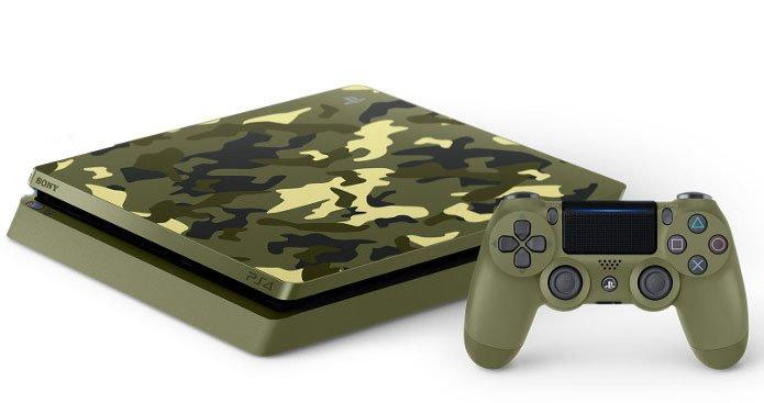 PlayStation 4 Slim Green Camouflage 1TB | PlayStation 4 ...