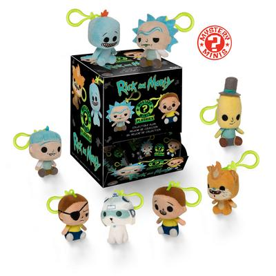 Blind Bag Keychain Plush: Rick and Morty Plush: 18 (Assortment)