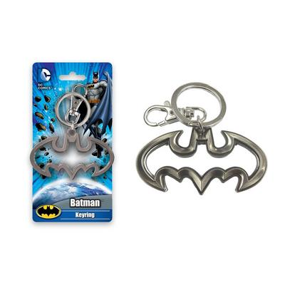 Batman Logo Cutout Pewter Key Chain