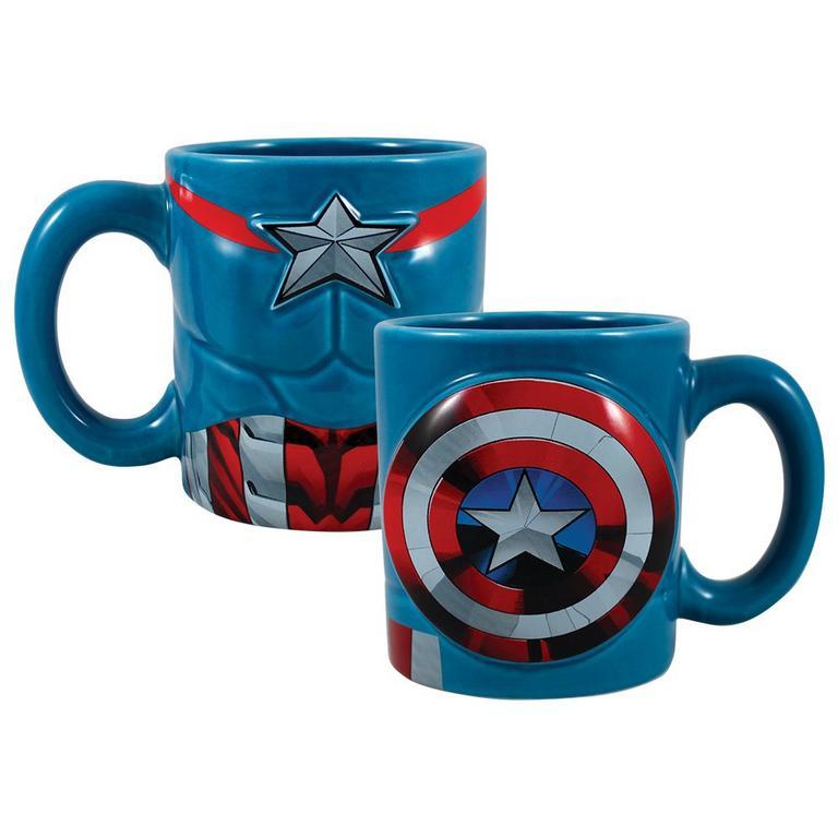 Captain America Bust Shield Mug