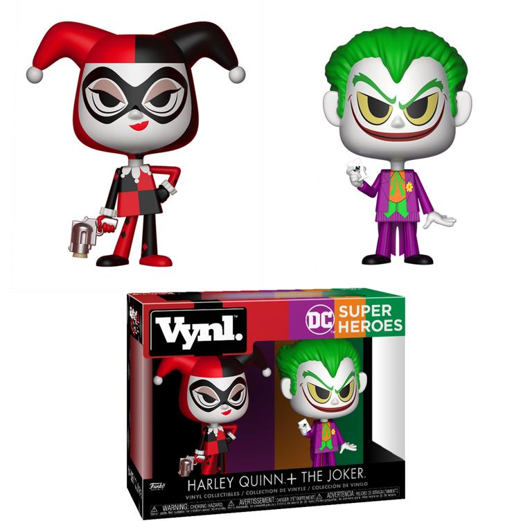 VYNL: DC Super Heroes - Harley Quinn & The Joker 2 Pack