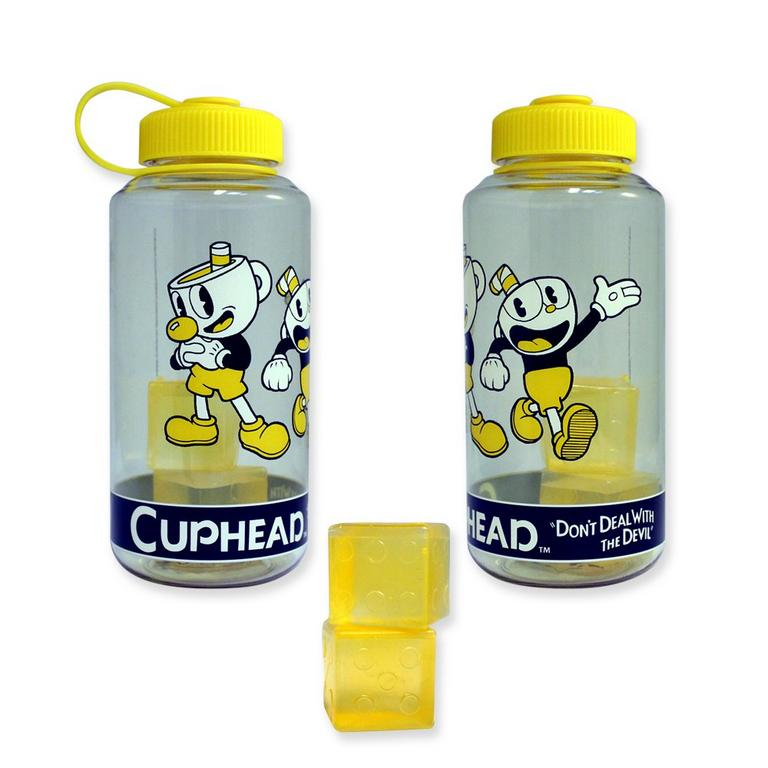 Cuphead with Ice Cubes Plastic Water Bottle
