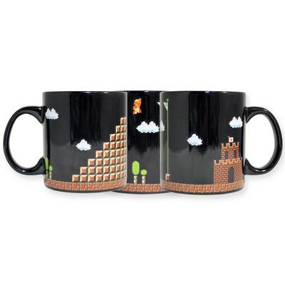 Super Mario Bros. 8-Bit Castle Art Mug