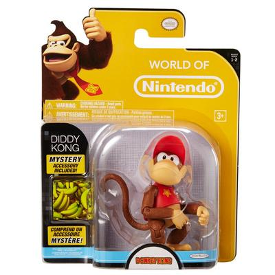 Donkey Kong Diddy Kong World of Nintendo Action Figure