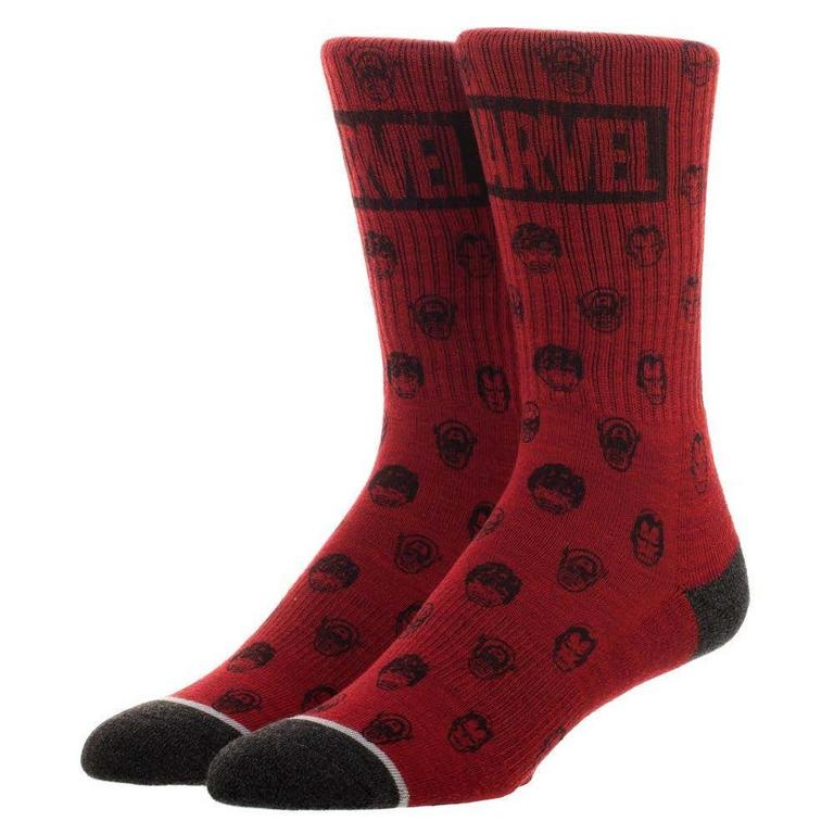 Marvel Faces Mens Socks