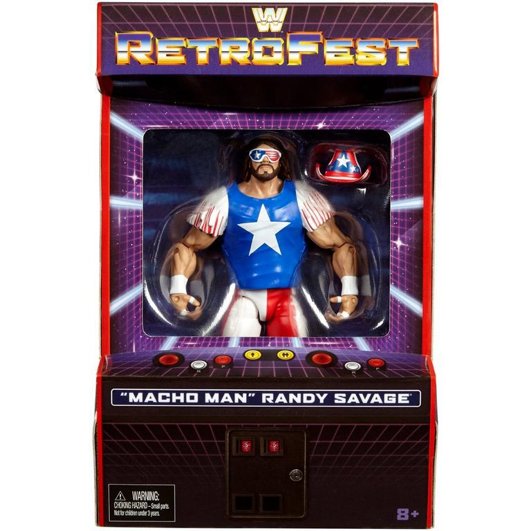 WWE Macho Man Randy Savage Elite Collection RetroFest Action Figure Only at GameStop