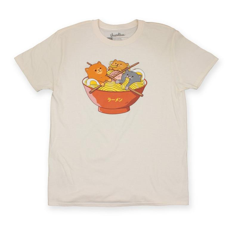 Ramen and Cats Cream T-Shirt