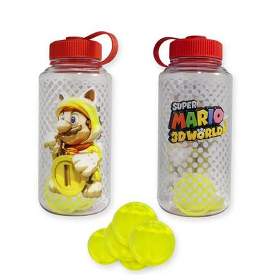 Super Mario 3D World Golden Cat Water Bottle with Ice Cubes