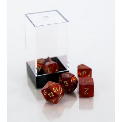 Scarab Polyhedral 7-Die Set - Scarlet and Gold (Dungeons & Dragons)