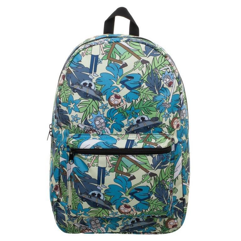 Rick And Morty Hawaiian Backpack