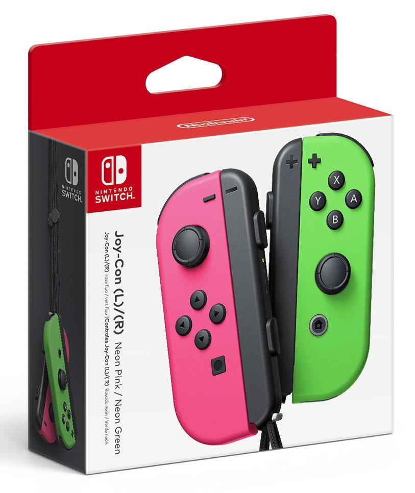 Nintendo Switch Joy Con L R Neon Pink Neon Green Nintendo Switch Gamestop