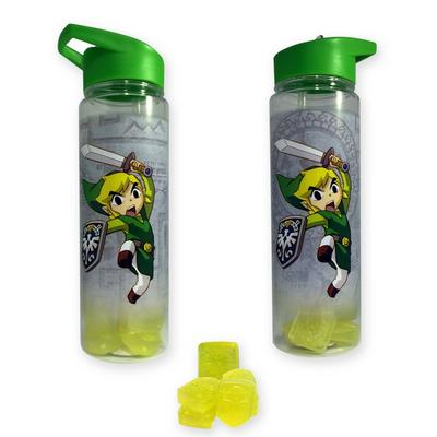 The Legend of Zelda Water Bottle with Reusable Ice Cubes