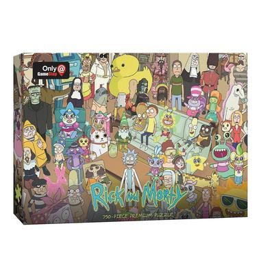 Rick and Morty Friends and Family 750 Piece Premium Puzzle - Only at GameStop